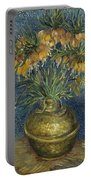 Imperial Fritillaries In A Copper Vase Portable Battery Charger