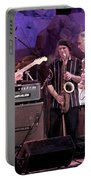Guitarists Jimmie Vaughan And Duke Robbilard Portable Battery Charger