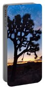 Josua Trees Beautifully Lit During Sunrise In Joshua Tree Nation Portable Battery Charger