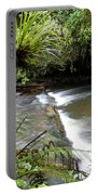 Jungle Stream  Portable Battery Charger by Les Cunliffe