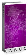 Kabul Street Map - Kabul Afghanistan Road Map Art On Colored Bac Portable Battery Charger