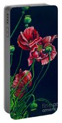 Kara's Poppies Portable Battery Charger