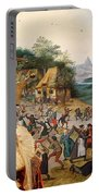 Korthals Pointing Griffon Art Canvas Print Portable Battery Charger