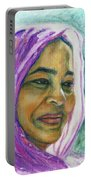 Lady From Bangladesh Portable Battery Charger