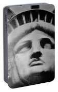 Lady Liberty In Black And White Portable Battery Charger