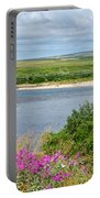 2-lay Of The Land-grizzly Bears In Moraine River In Katmai Np-ak Portable Battery Charger