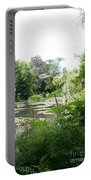 Lily Pond In Monets Garden Portable Battery Charger