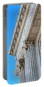 Lincoln County Courthouse Columns Looking Up 02 Portable Battery Charger