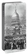 Lincoln Inauguration, 1865 Portable Battery Charger