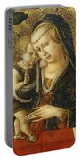 Madonna And Child Portable Battery Charger by Carlo Crivelli
