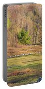 Maine Blueberry Field In Spring Portable Battery Charger by Keith Webber Jr