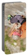 Man Climbing Re Azul, An Historic 7b Portable Battery Charger