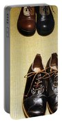 Mens Fine Italian Leather Shoes Portable Battery Charger