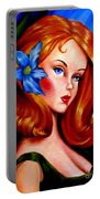 Mod Barbie Redhead Portable Battery Charger