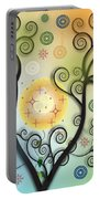 Moon Swirl Tree Portable Battery Charger