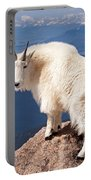 Mountain Goat On Mount Evans Portable Battery Charger
