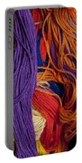 Multicolored Embroidery Thread Mixed Up  Portable Battery Charger