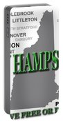 New Hampshire State Pride Map Silhouette  Portable Battery Charger