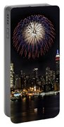 New York City Celebrates The 4th Portable Battery Charger by Susan Candelario