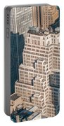 New York City Manhattan Midtown Aerial Panorama View With Skyscr Portable Battery Charger