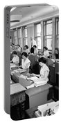 Office Workers Entering Data Portable Battery Charger by Underwood Archives