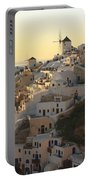 Oia At Sunset Santorini Cyclades Greece  Portable Battery Charger