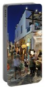 Oia Town During Dusk Time Portable Battery Charger