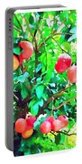 Orange Trees With Fruits On Plantation Portable Battery Charger