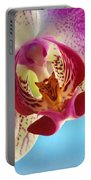 Pink Orchid Flower Details Portable Battery Charger