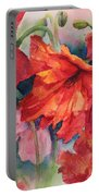 Oriental Poppies Portable Battery Charger