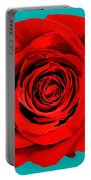 Painting Of Single Rose Portable Battery Charger