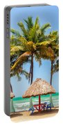 Palm Trees And Sea Portable Battery Charger