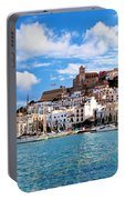 Panorama Of Ibiza Spain Portable Battery Charger