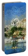 Panoramic Painting Of Pasalimani Port Portable Battery Charger