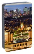 Paris Panorama France At Night Portable Battery Charger