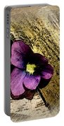 Peeking Violet Portable Battery Charger