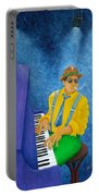 Piano Man Portable Battery Charger by Pamela Allegretto