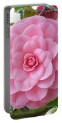 Pink Camellia Square Portable Battery Charger
