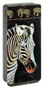 Portrait Of A Zebra Portable Battery Charger