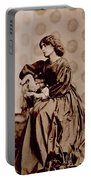 Portrait Of Jane Morris Portable Battery Charger