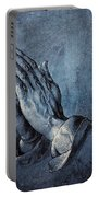 Praying Hands Portable Battery Charger by Albrecht Durer