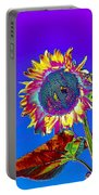 Psychedelic Sunflower Portable Battery Charger