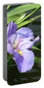 Purple Iris Reflection Portable Battery Charger