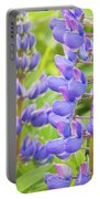 Purple Lupine Flowers Portable Battery Charger
