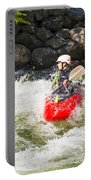 Red Whitewater Kayak Portable Battery Charger
