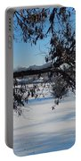 Redbud Tree In Winter Portable Battery Charger