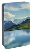 Reflection Of Clouds And Mountain Portable Battery Charger