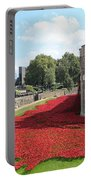 Remembrance Poppies At Tower Of London Portable Battery Charger