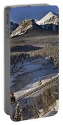 Rocky Mountains In Winter Portable Battery Charger