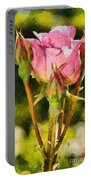 Rose Flower Portable Battery Charger